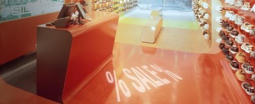 Proyectando ofertas en una tienda