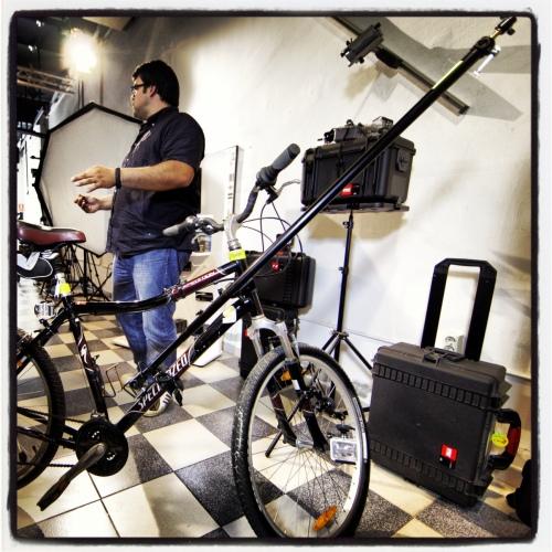 Bicicleta con lanza, y German