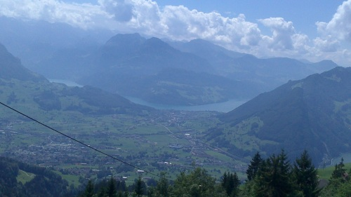 ...en un valle de Suiza...