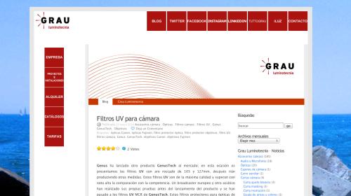 Nueva web con el blog integrado en su página de inicio