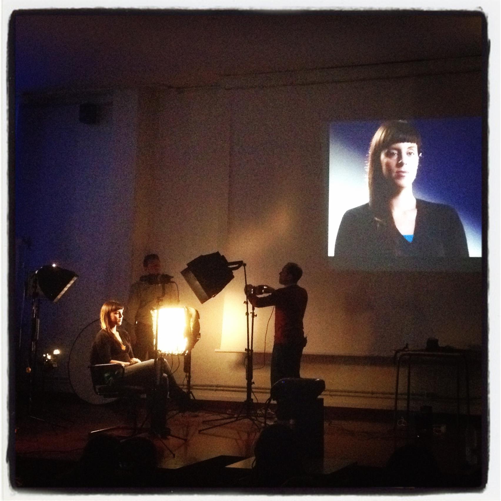 Iris en el workshop del IES la Mercè