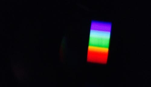 Luz solar a través de un espectroscopio
