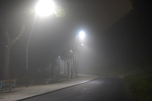 Blanco y mucho efecto niebla