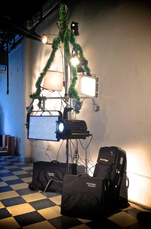 Nuestro peculiar árbol de Navidad Avenger decorado con dedolight's y TecPro's