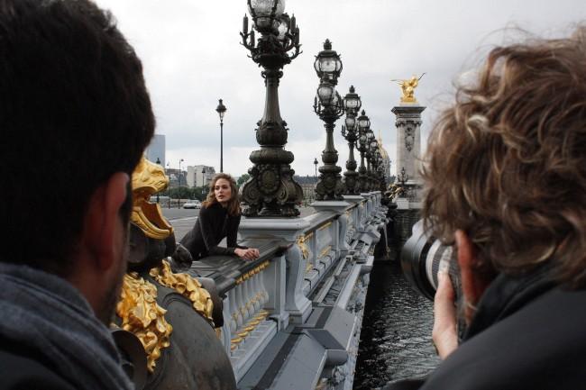 Shooting en Paris campaña de moda